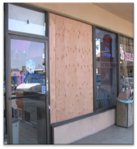Boarded Up Store Front